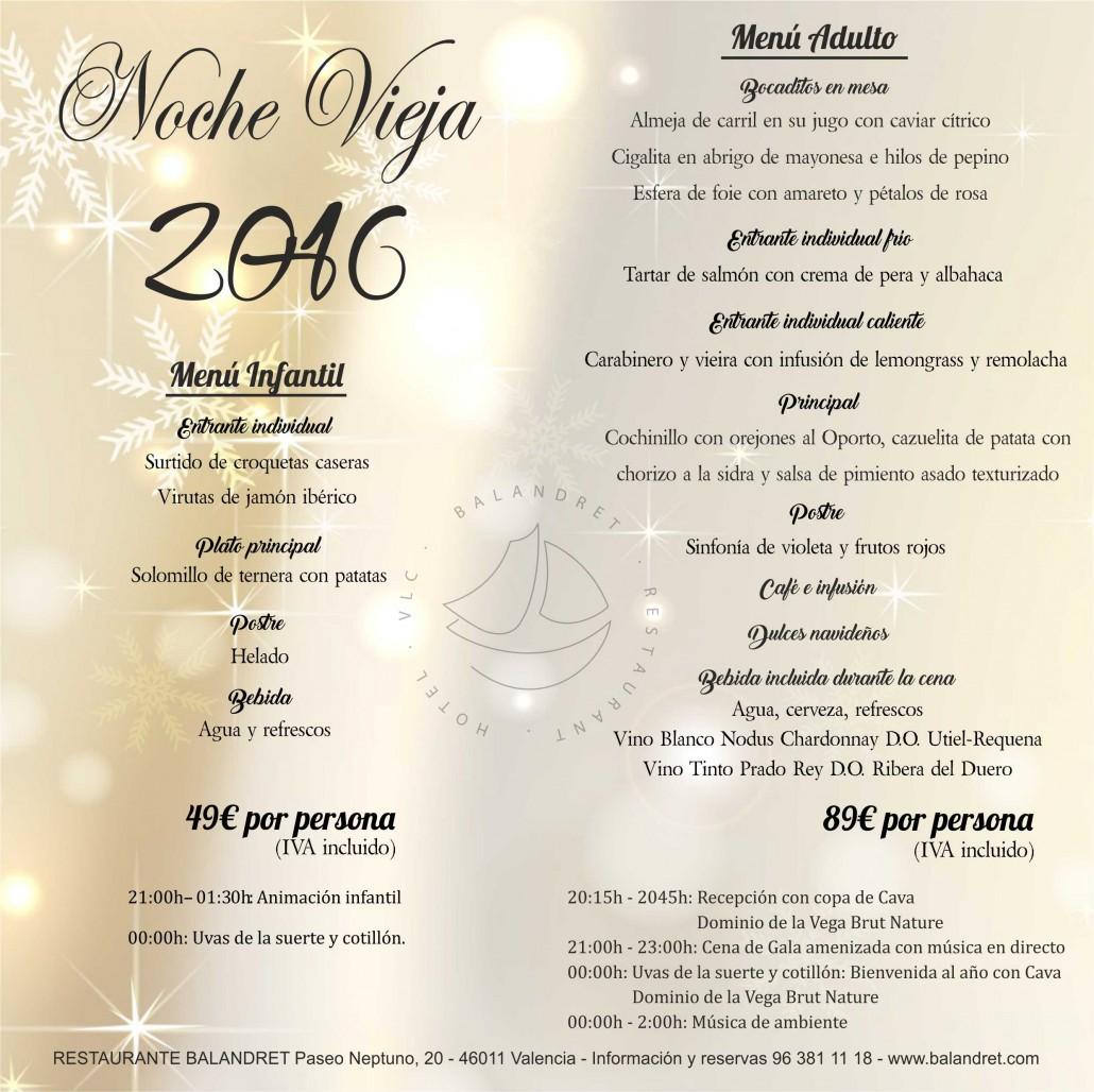 cena nochevieja valencia